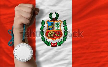 Teljes zászló Peru egész keret természetes Stock fotó © vepar5