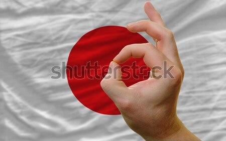 ok gesture in front of malta national flag Stock photo © vepar5