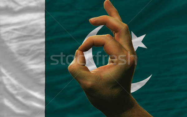 Neden jest Pakistan bayrak adam Stok fotoğraf © vepar5