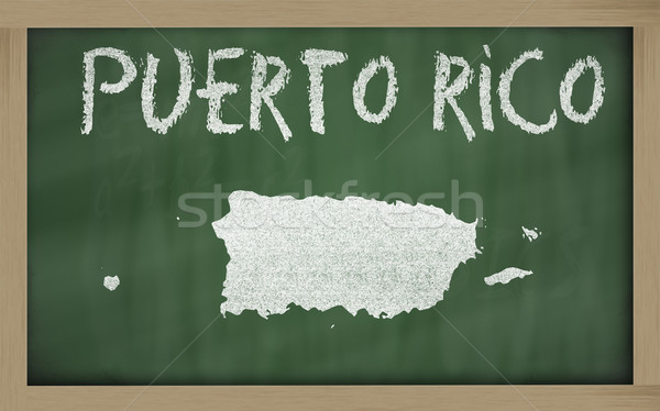 Carte Puerto Rico tableau noir dessin Photo stock © vepar5