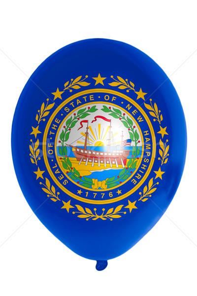 Ballon gekleurd vlag amerikaanse New Hampshire gelukkig Stockfoto © vepar5
