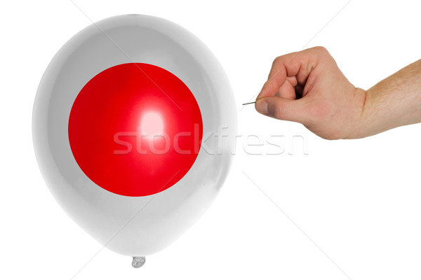 Bursting balloon colored in  national flag of japan    Stock photo © vepar5