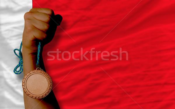 Bronze medalha esportes bandeira Bahrein Foto stock © vepar5