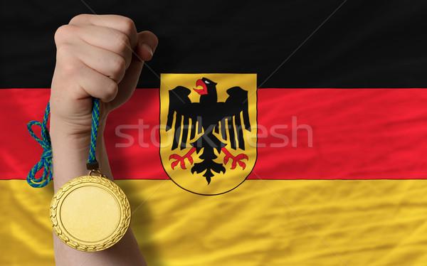 金メダル スポーツ フラグ ドイツ 勝者 ストックフォト © vepar5