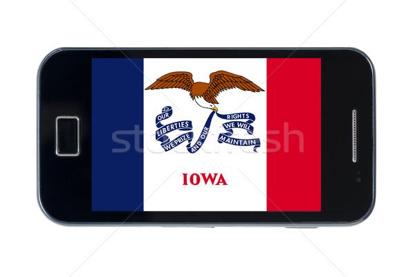 Okostelefon zászló amerikai Iowa telefon telefon Stock fotó © vepar5