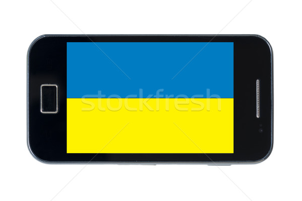 Smartphone vlag Oekraïne telefoon telefoon mobiele Stockfoto © vepar5