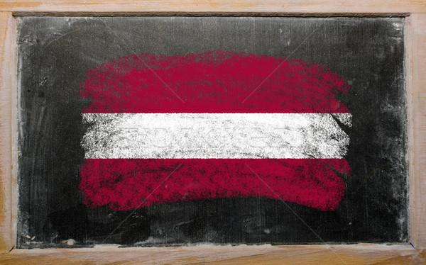 flag of Latvia on blackboard painted with chalk   Stock photo © vepar5