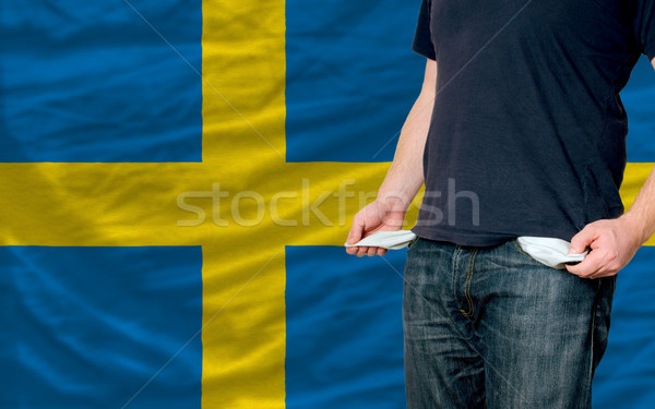 recession impact on young man and society in sweden Stock photo © vepar5