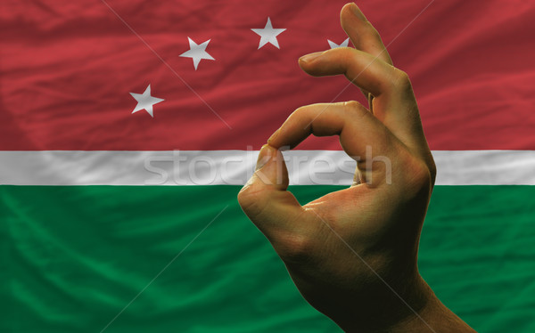 ok gesture in front of maghreb national flag Stock photo © vepar5