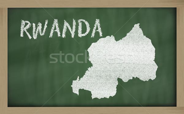 outline map of rwanda on blackboard  Stock photo © vepar5