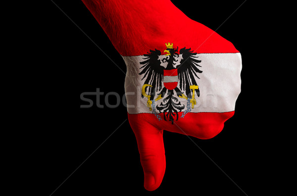 austria national flag thumb down gesture for failure made with h Stock photo © vepar5