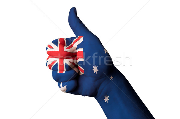 australia national flag thumb up gesture for excellence and achi Stock photo © vepar5