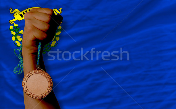 Bronze medal for sport and  flag of american state of nevada    Stock photo © vepar5