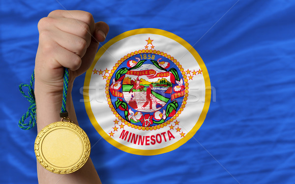 Gold medal for sport and  flag of american state of minnesota    Stock photo © vepar5