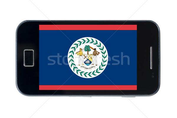 Okostelefon zászló Belize telefon telefon háttér Stock fotó © vepar5