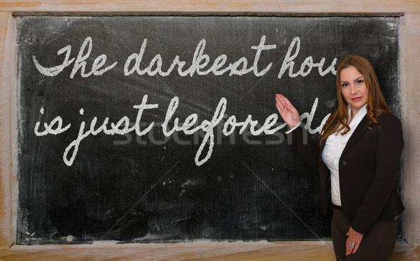 öğretmen saat şafak başarılı güzel Stok fotoğraf © vepar5