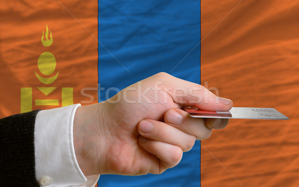 buying with credit card in mongolia Stock photo © vepar5