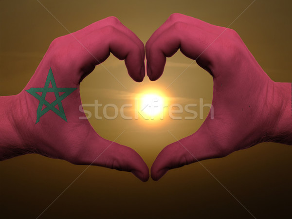 Kalp sevmek jest eller renkli Fas Stok fotoğraf © vepar5
