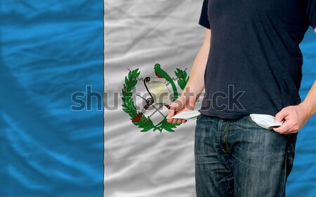 Heart and love gesture showed by hands over flag of guatemala ba Stock photo © vepar5