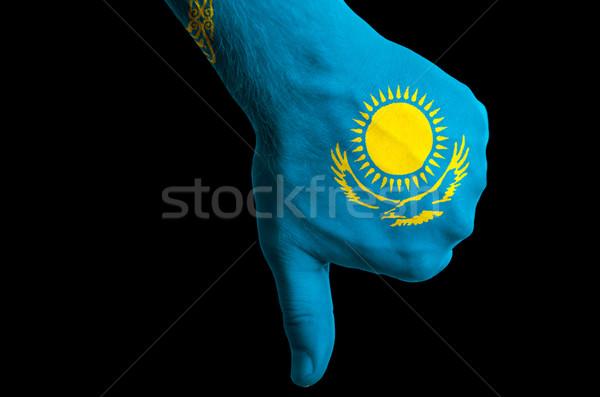 Казахстан флаг вниз жест провал Сток-фото © vepar5