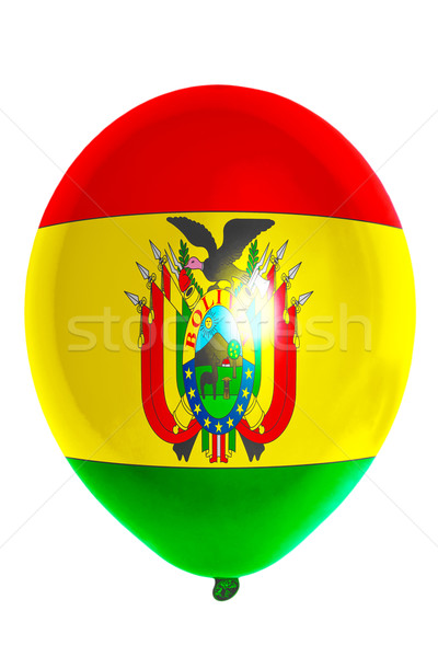 Léggömb színes zászló Bolívia boldog háttér Stock fotó © vepar5
