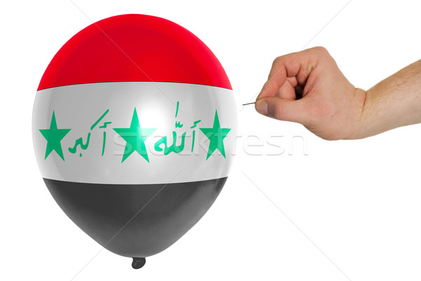 Balon renkli bayrak Irak kavram siyaset Stok fotoğraf © vepar5