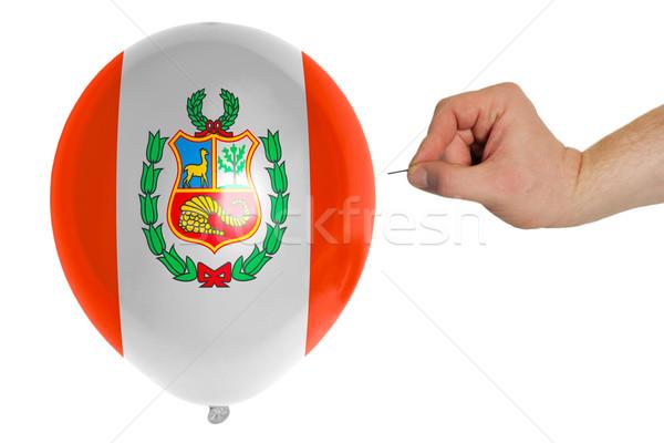 Globo bandera Perú política destrucción Foto stock © vepar5