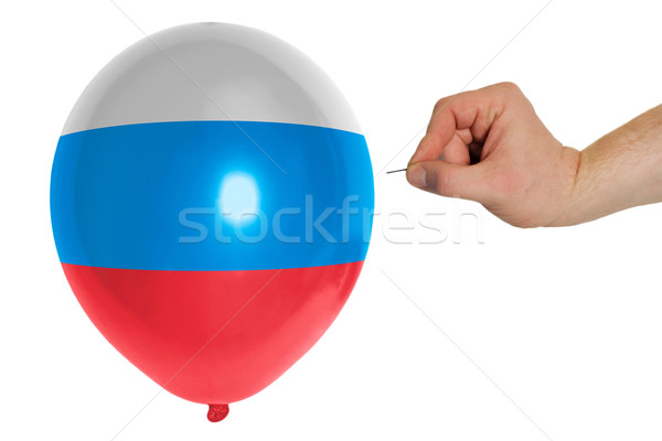 Bursting balloon colored in  national flag of russia    Stock photo © vepar5