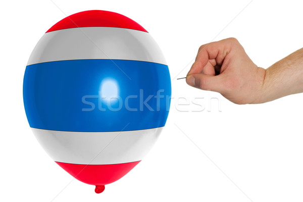 Bursting balloon colored in  national flag of thailand    Stock photo © vepar5