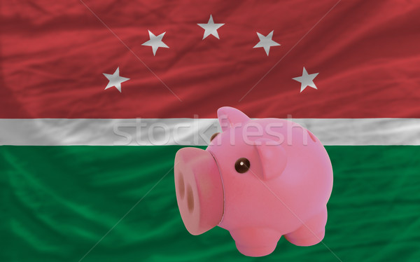 piggy rich bank and  national flag of  of maghreb    Stock photo © vepar5