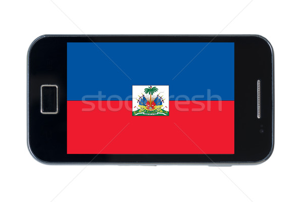 Smartphone bandiera Haiti telefono internet telefono Foto d'archivio © vepar5