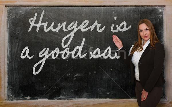 учитель голод хорошие соус доске Сток-фото © vepar5