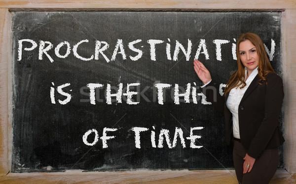 Professor procrastinação ladrão tempo bem sucedido Foto stock © vepar5