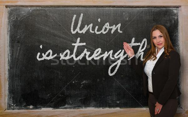 öğretmen sendika güç tahta başarılı Stok fotoğraf © vepar5