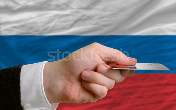 buying with credit card in russia Stock photo © vepar5