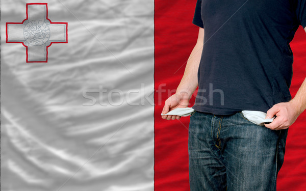recession impact on young man and society in malta Stock photo © vepar5