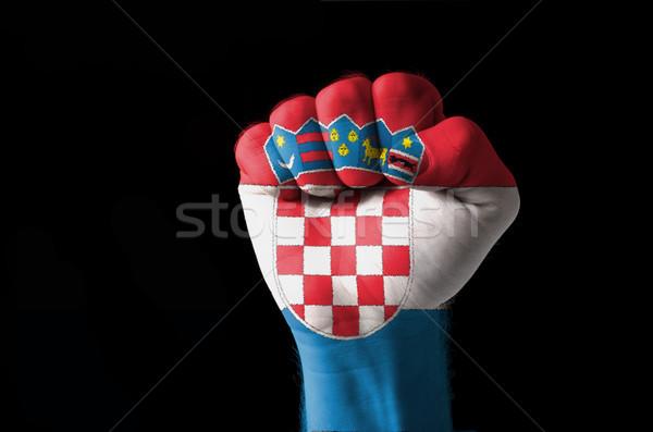 Puno pintado colores Croacia bandera bajo Foto stock © vepar5