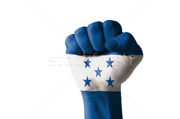 Puno pintado colores Honduras bandera bajo Foto stock © vepar5