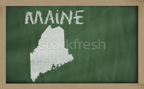Skicc térkép Maryland iskolatábla rajz tábla Stock fotó © vepar5