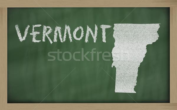 地図 バーモント州 黒板 図面 黒板 ストックフォト © vepar5