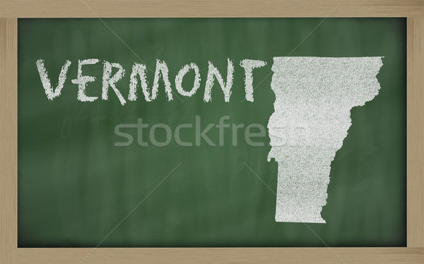 Mapa Vermont pizarra dibujo pizarra Foto stock © vepar5