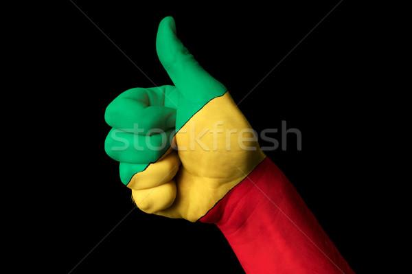 Congo banderą kciuk w górę gest doskonałość Zdjęcia stock © vepar5