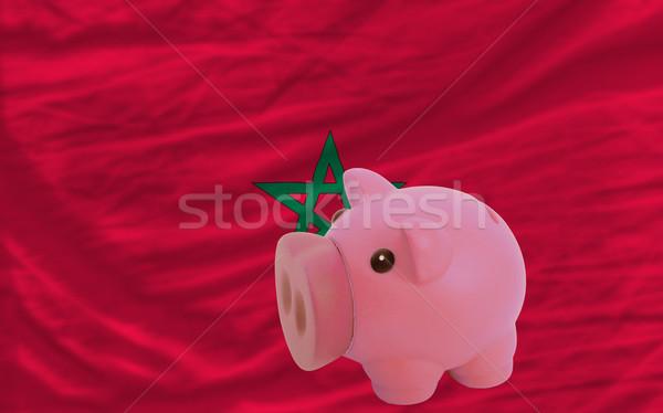 Zengin banka bayrak Fas Stok fotoğraf © vepar5