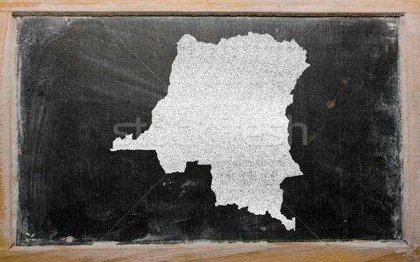 Harita Kongo tahta çizim Stok fotoğraf © vepar5