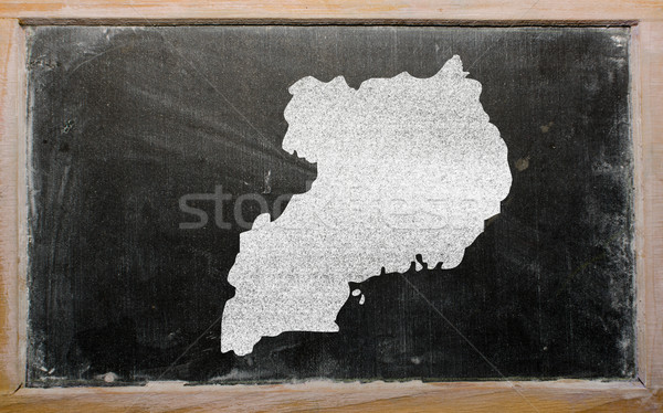 outline map of uganda on blackboard  Stock photo © vepar5