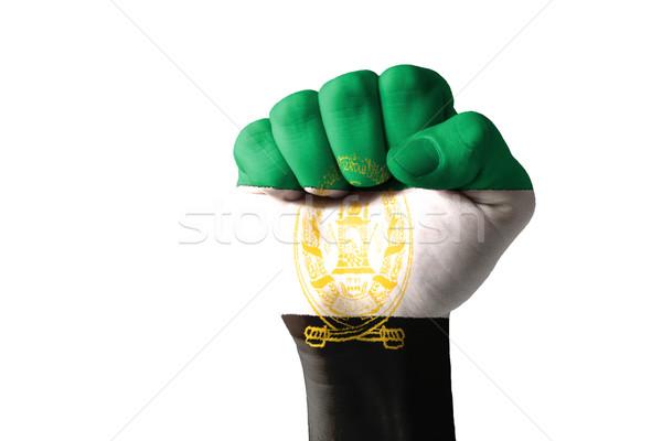 Punho pintado cores bandeira baixo chave Foto stock © vepar5