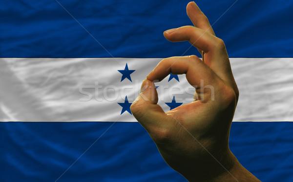Gesto Honduras bandiera uomo Foto d'archivio © vepar5