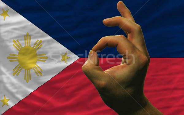 Neden jest Filipinler bayrak adam Stok fotoğraf © vepar5