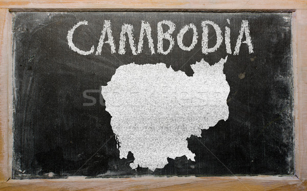 Mapa Camboja lousa desenho Foto stock © vepar5