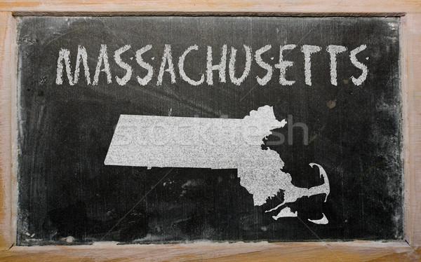 Harita Massachusetts tahta çizim amerikan Stok fotoğraf © vepar5